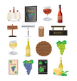 wine icon set vector image