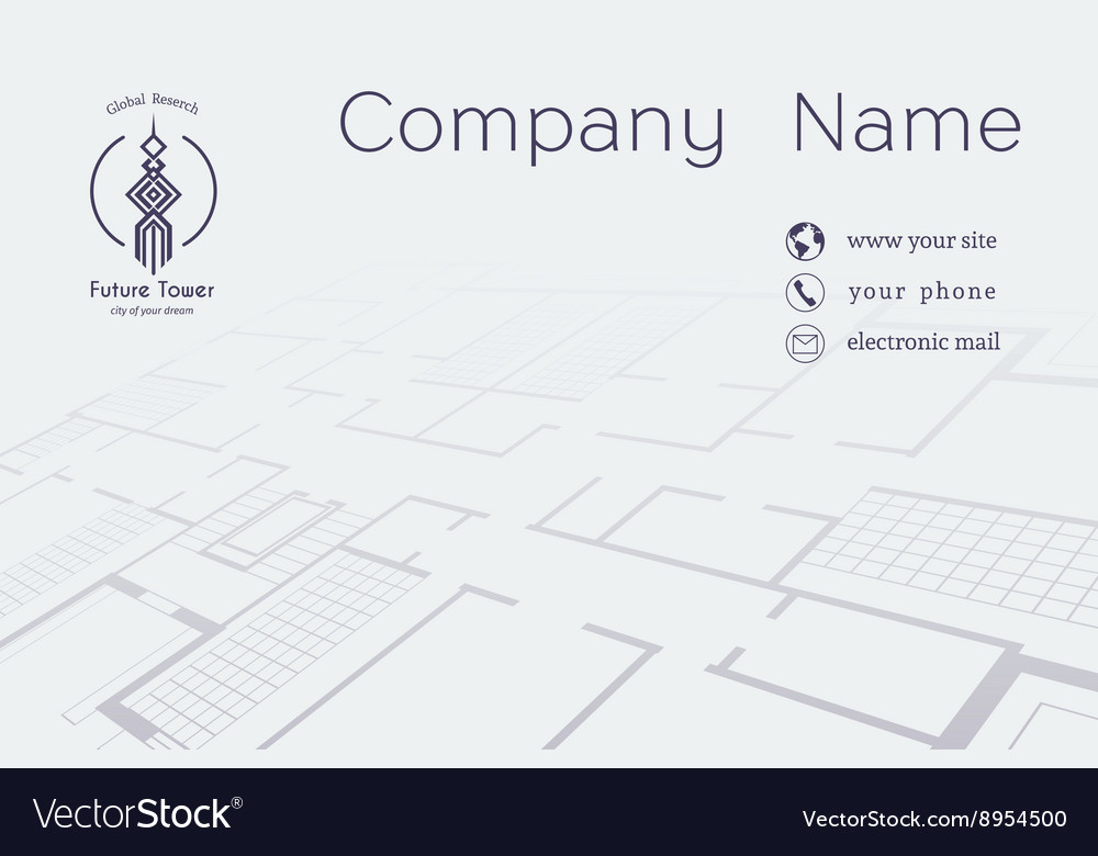 Architectural business card vector