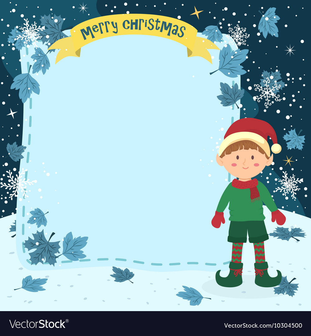 Notes christmas elf boy vector