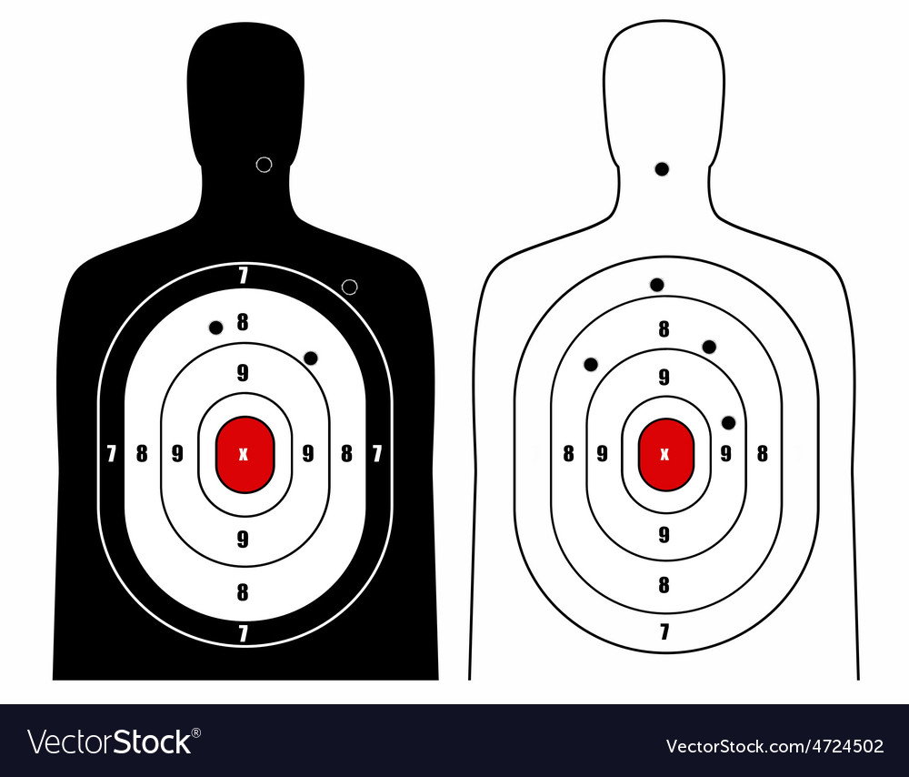 Black and white human target vector