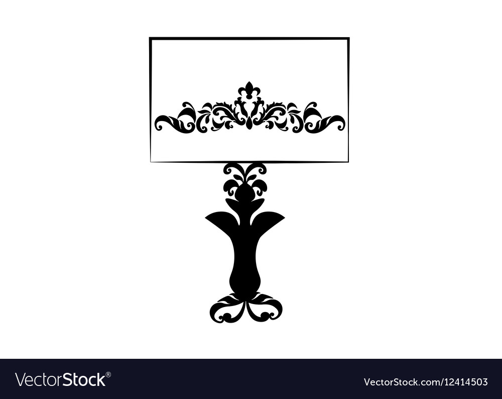Classic lamp with ornaments vector