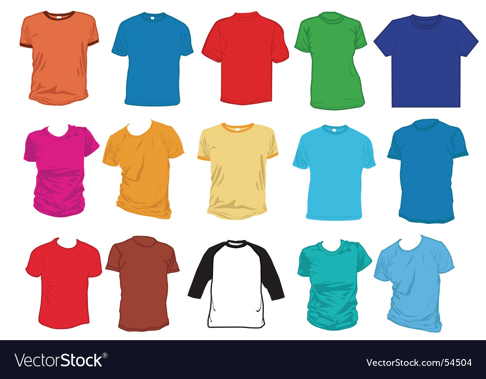 Apparel templates vector