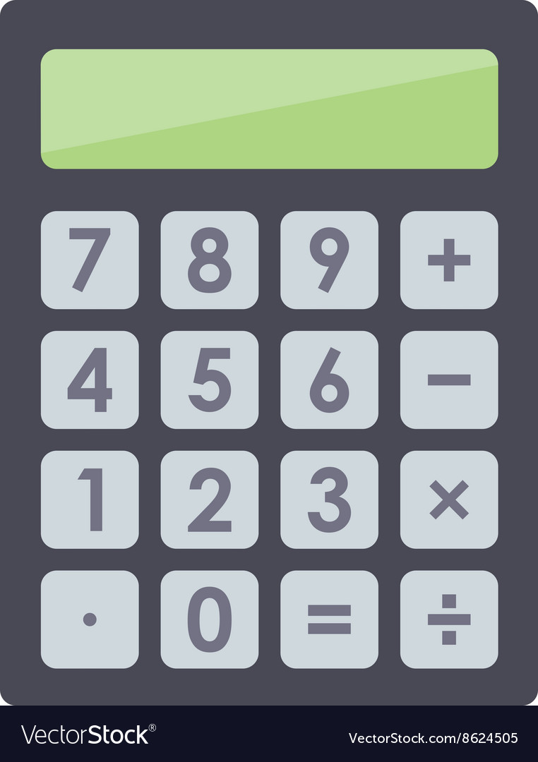 Mathematics business calculator technology vector