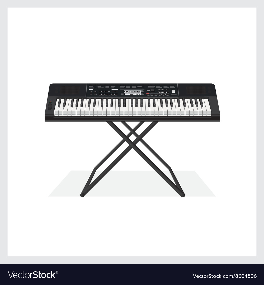 Keyboard instrument vector