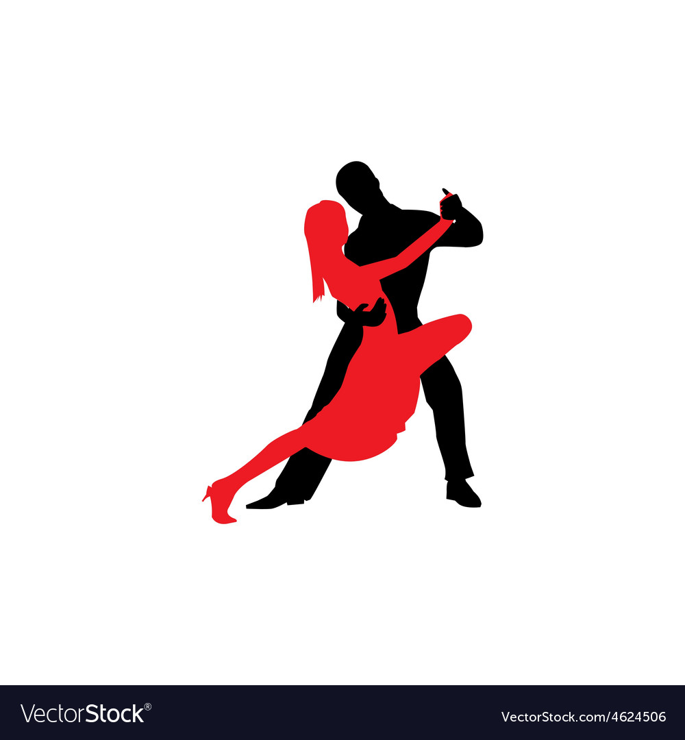 Latin dancers silhouettes vector