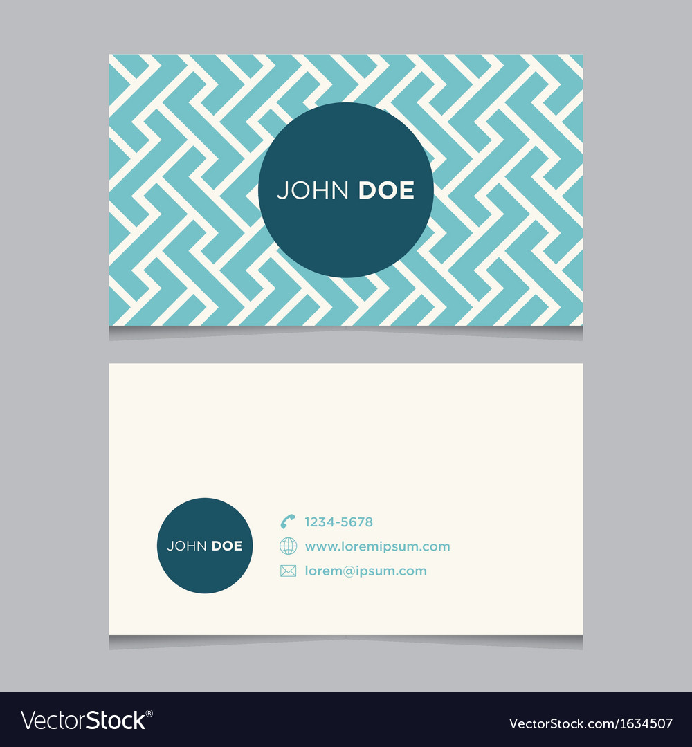 Business card pattern blue 01 vector