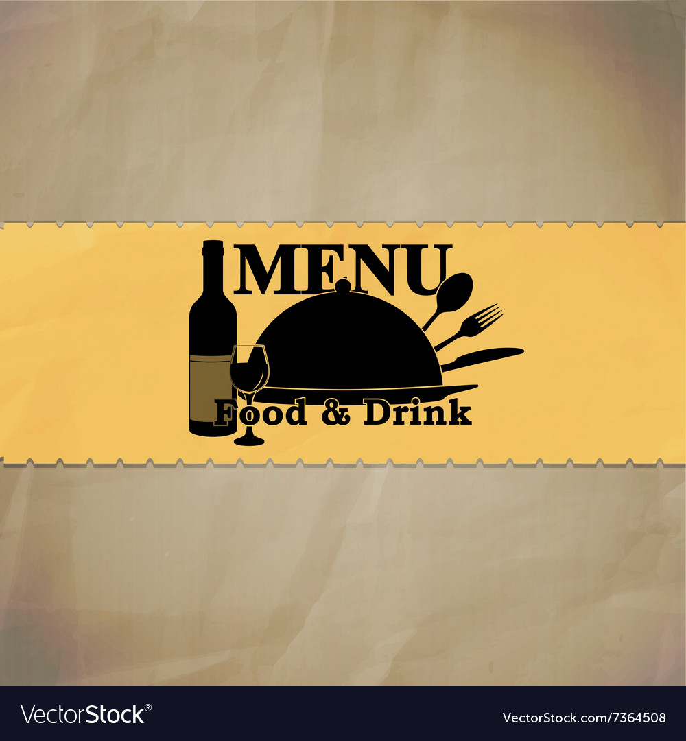 Restaurant menu path and stroke vector