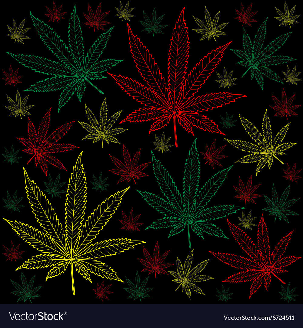 Marijuanacannabisbackground vector