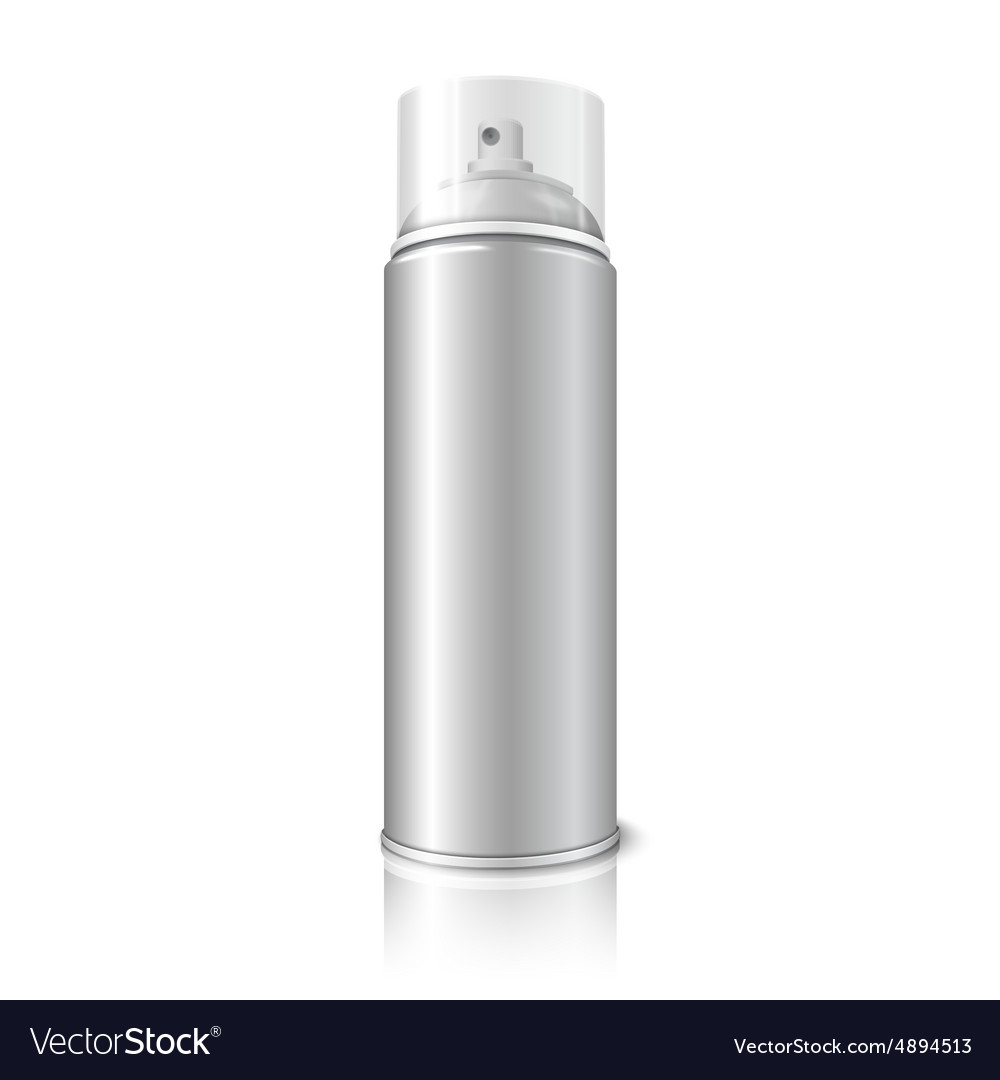 Blank realistic aerosol spray metal 3d vector
