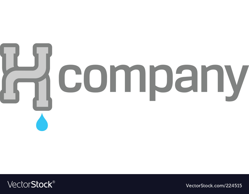 Pipes logo for plumber service vector
