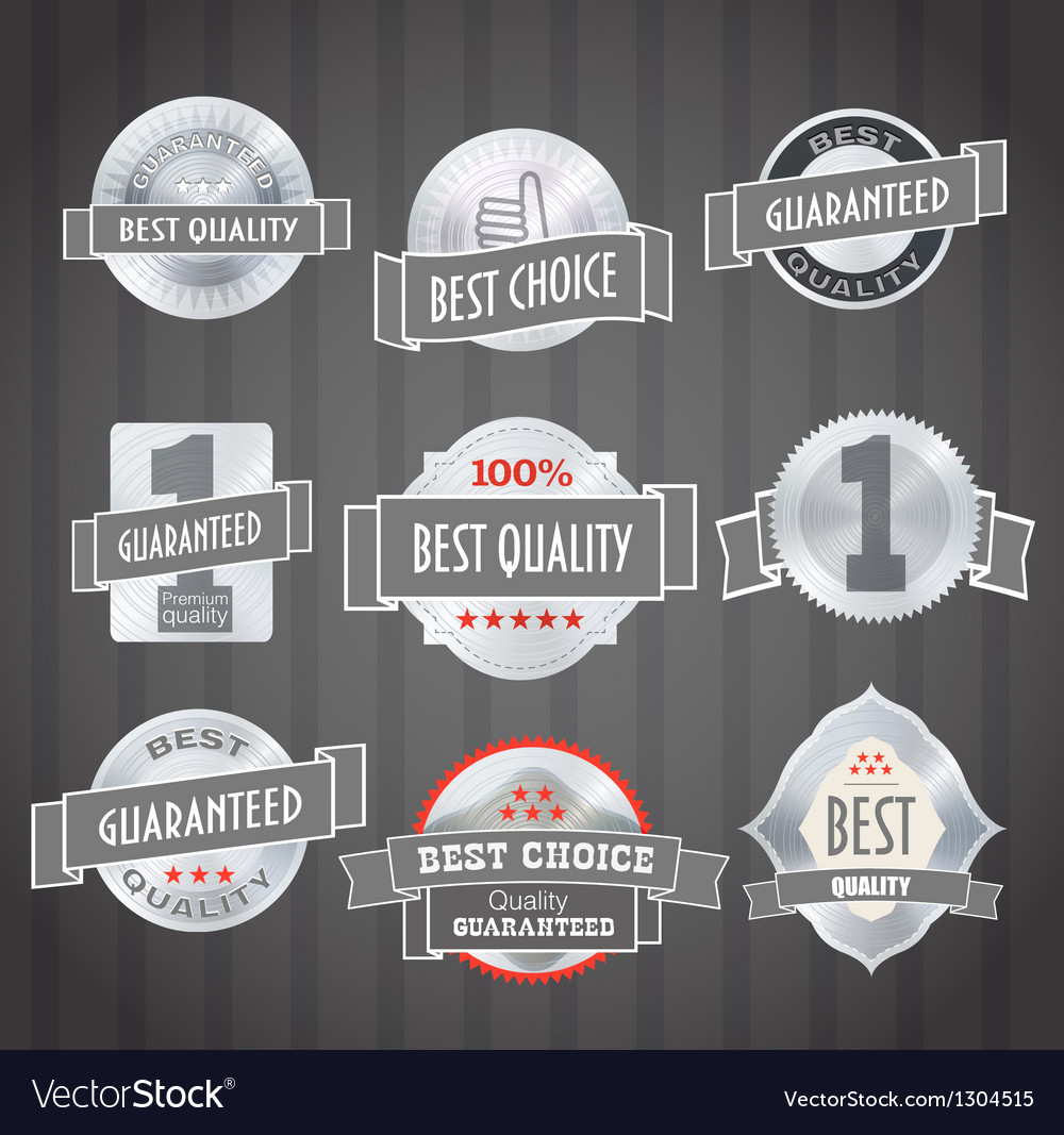 Vintage shopping labels and logo collection vector