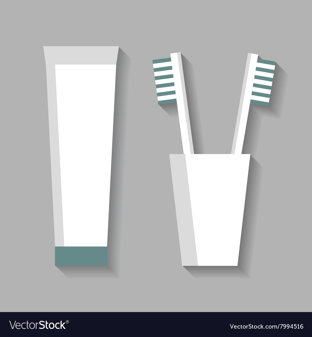 Toothpaste and toothbrushes vector