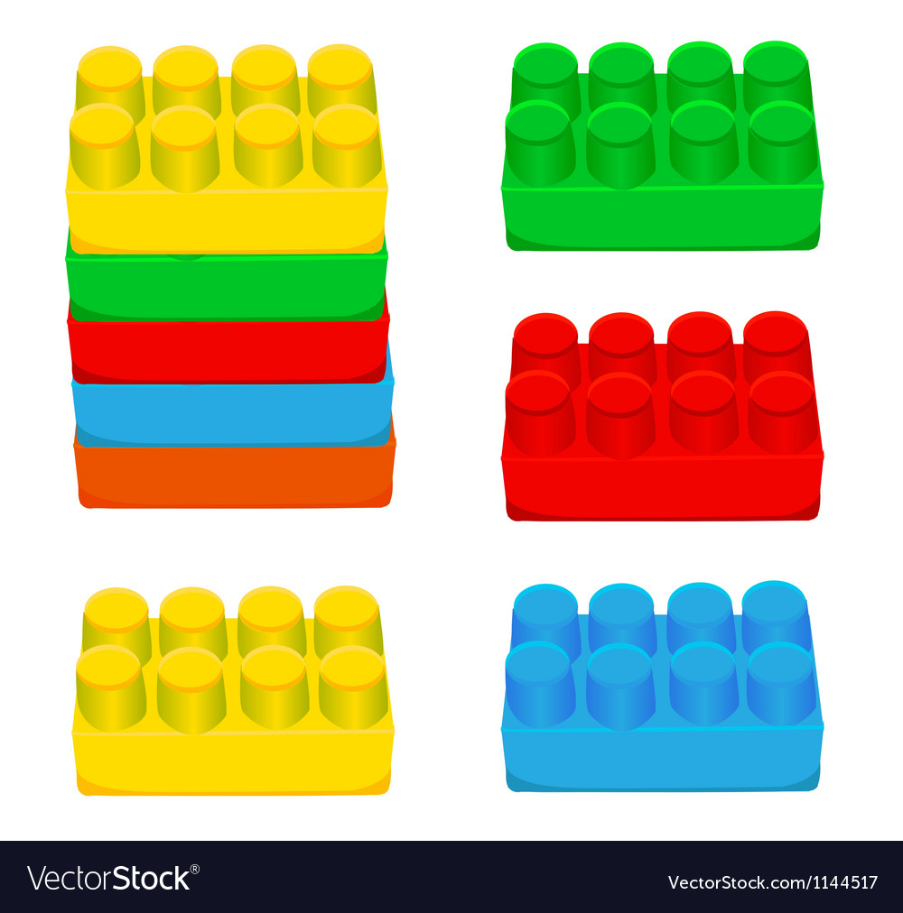 Lego blocks vector