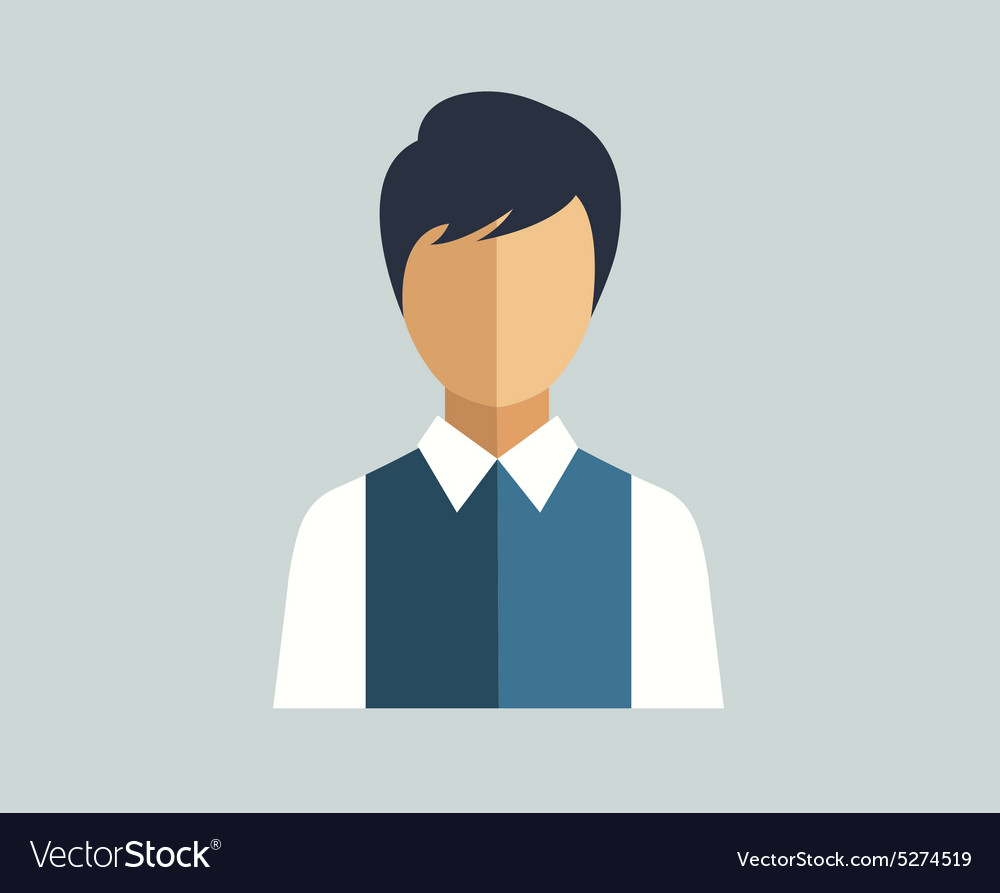 Human icon isolated shirt vector