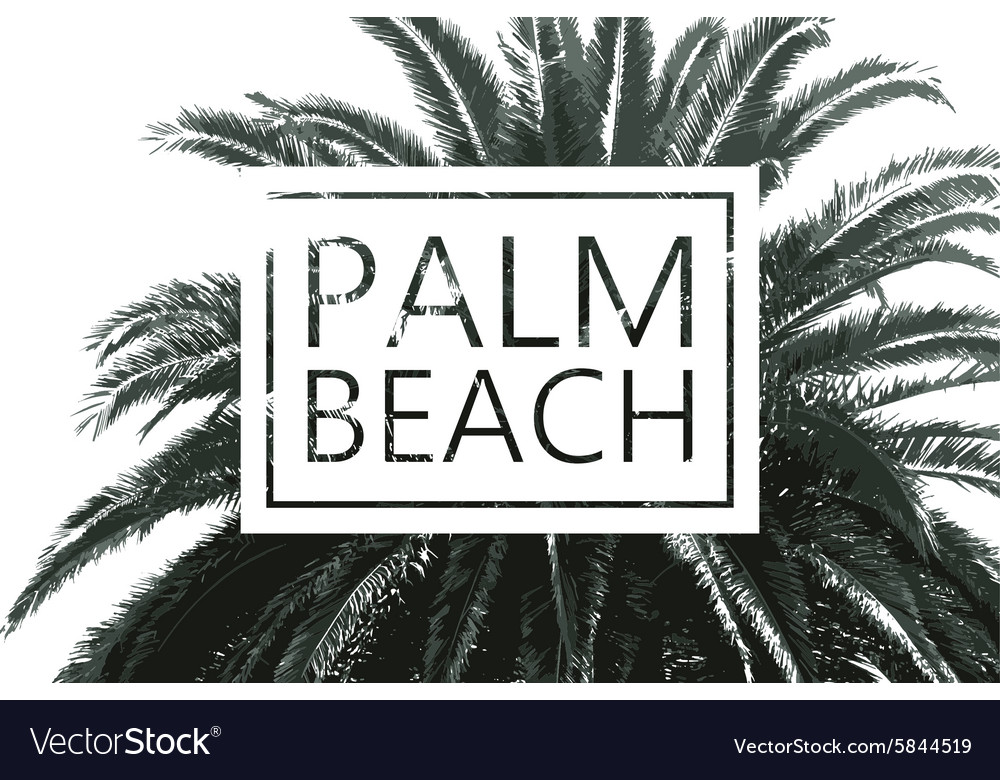 Palm tree print vector