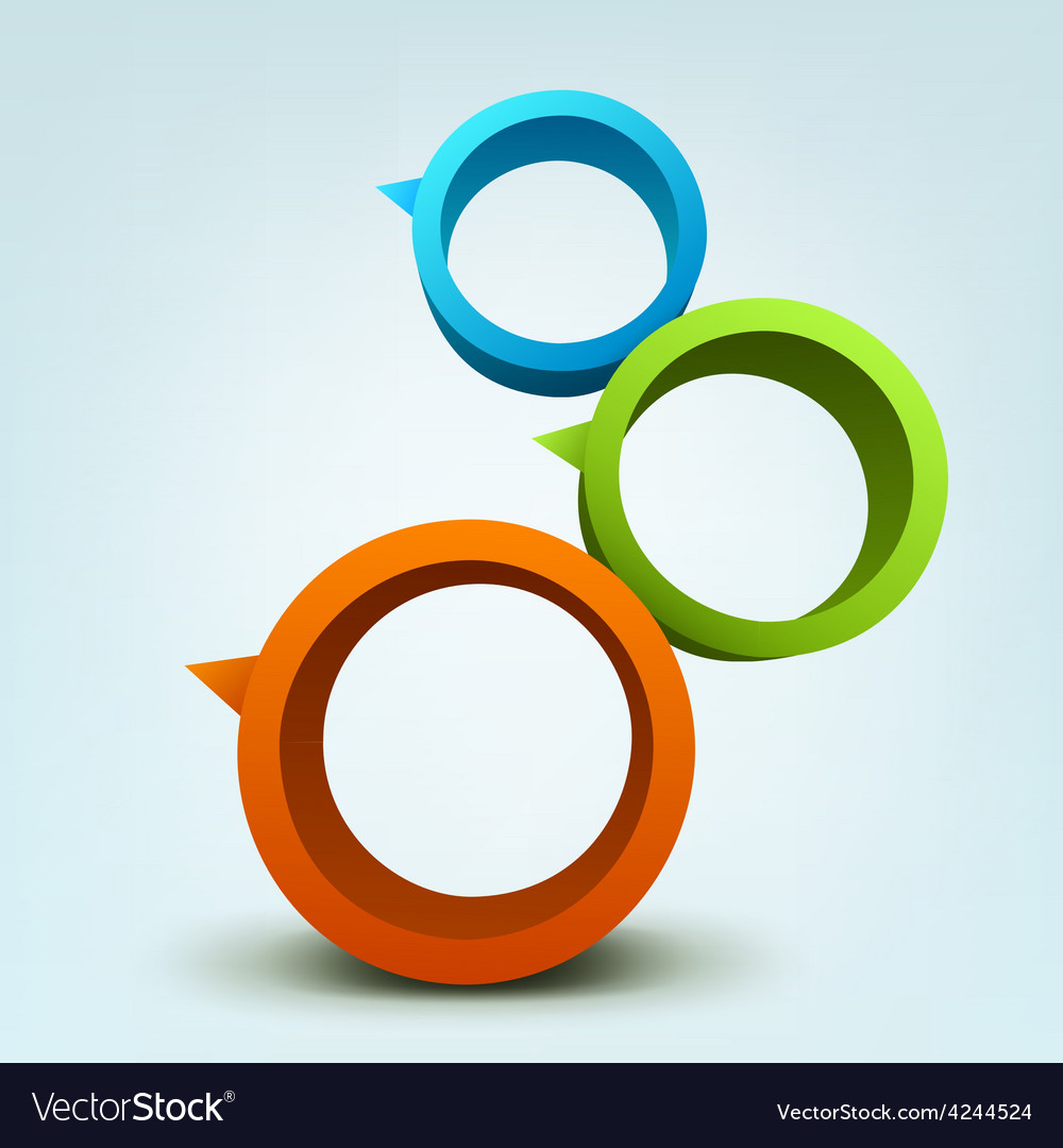 Abstract of 3d rings vector