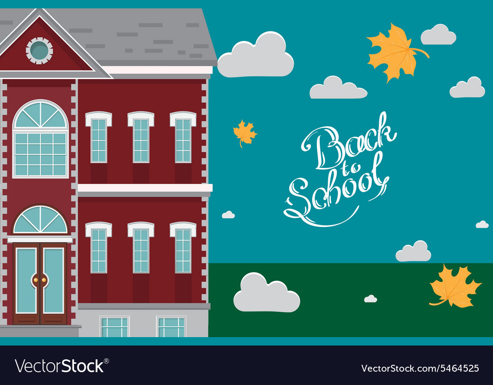 Hand drawn back to school lettering school vector