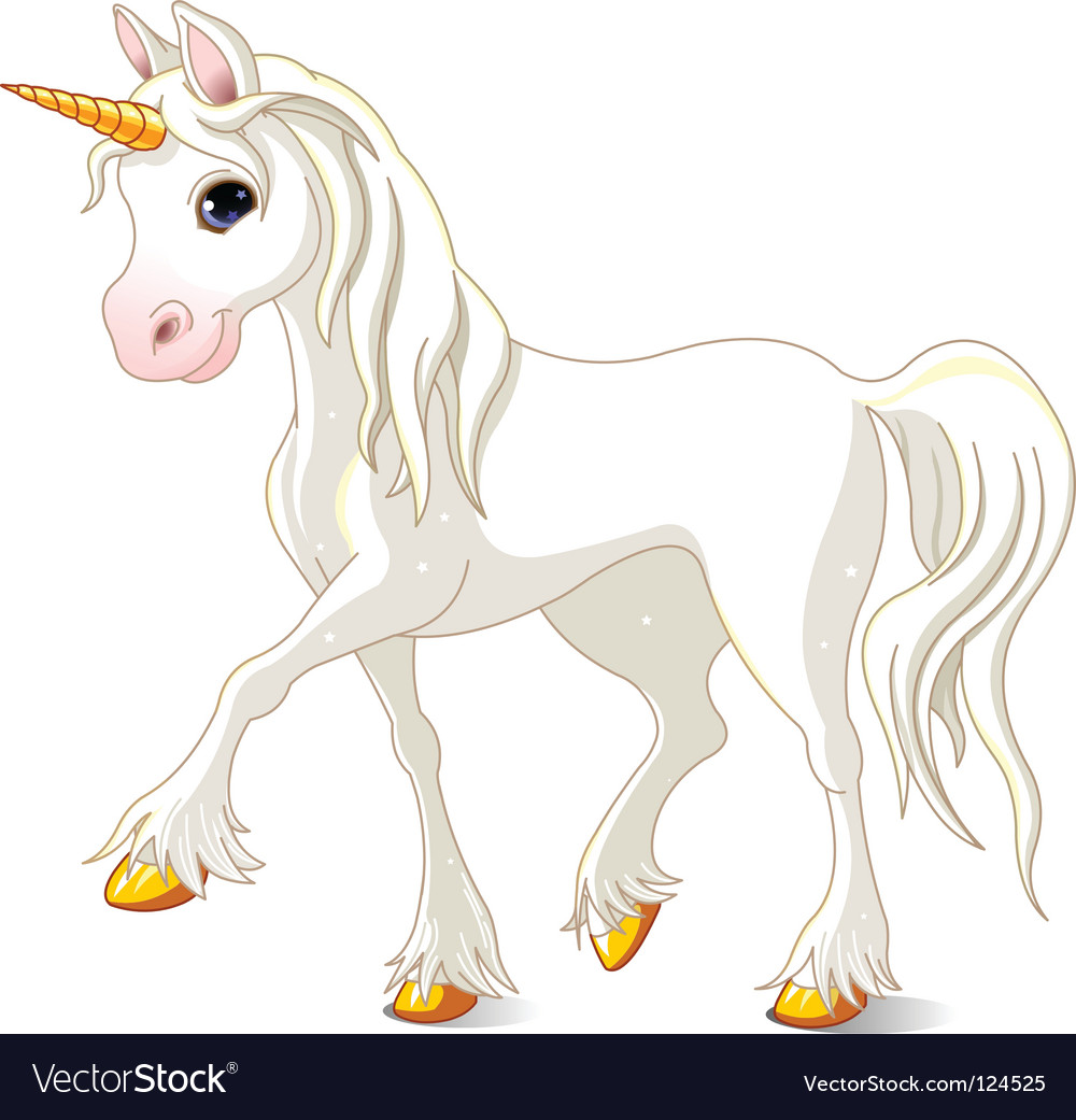 White unicorn vector