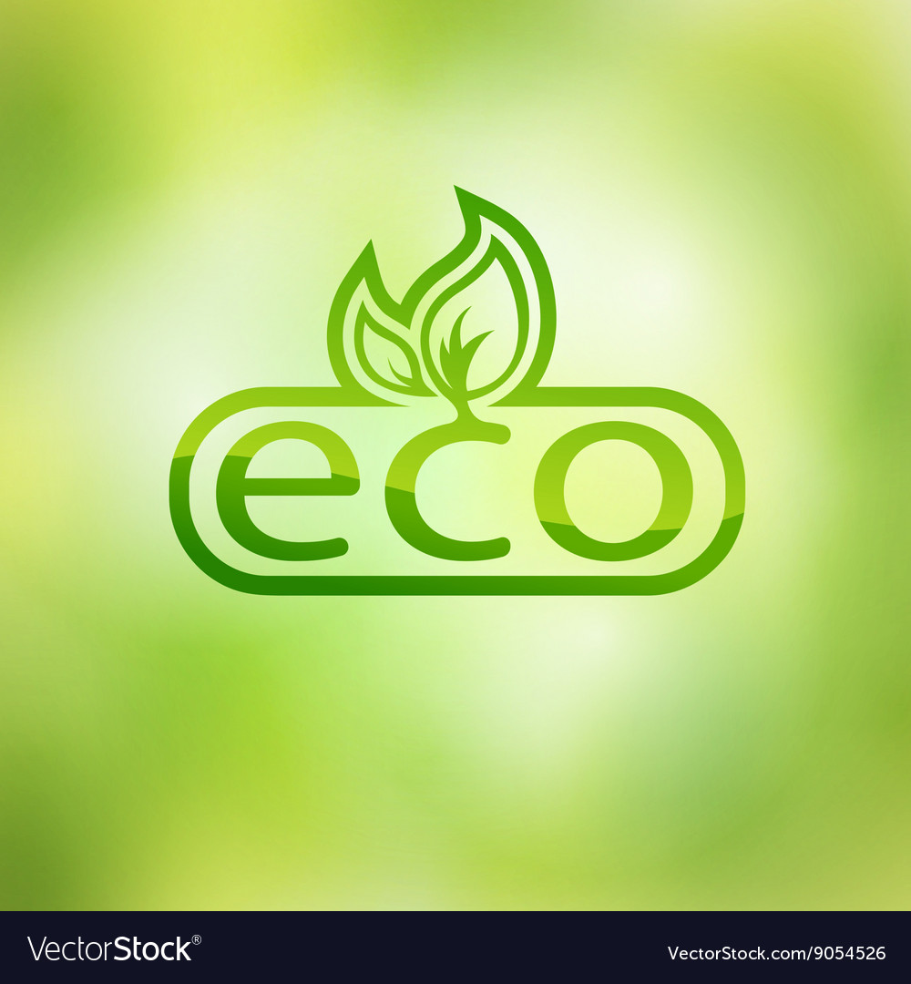 Green eco friendly background  abstract leaves vector