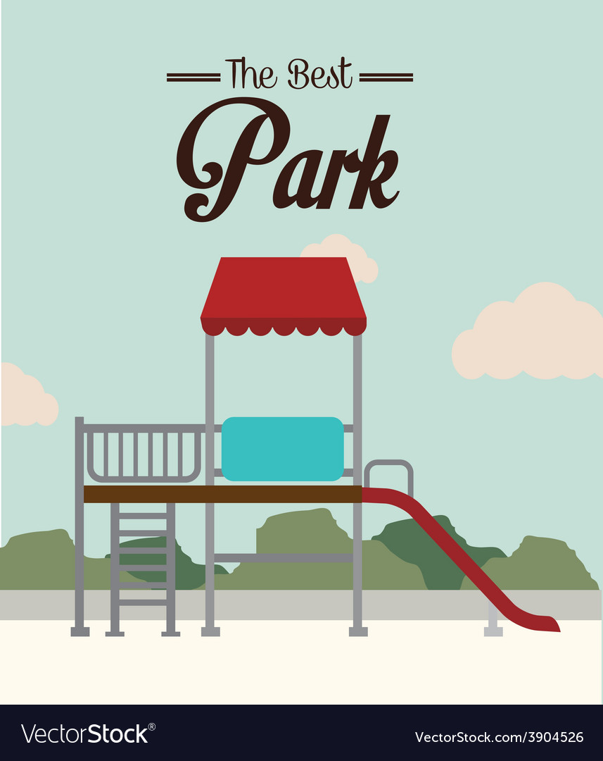 Park design over landscape background vector
