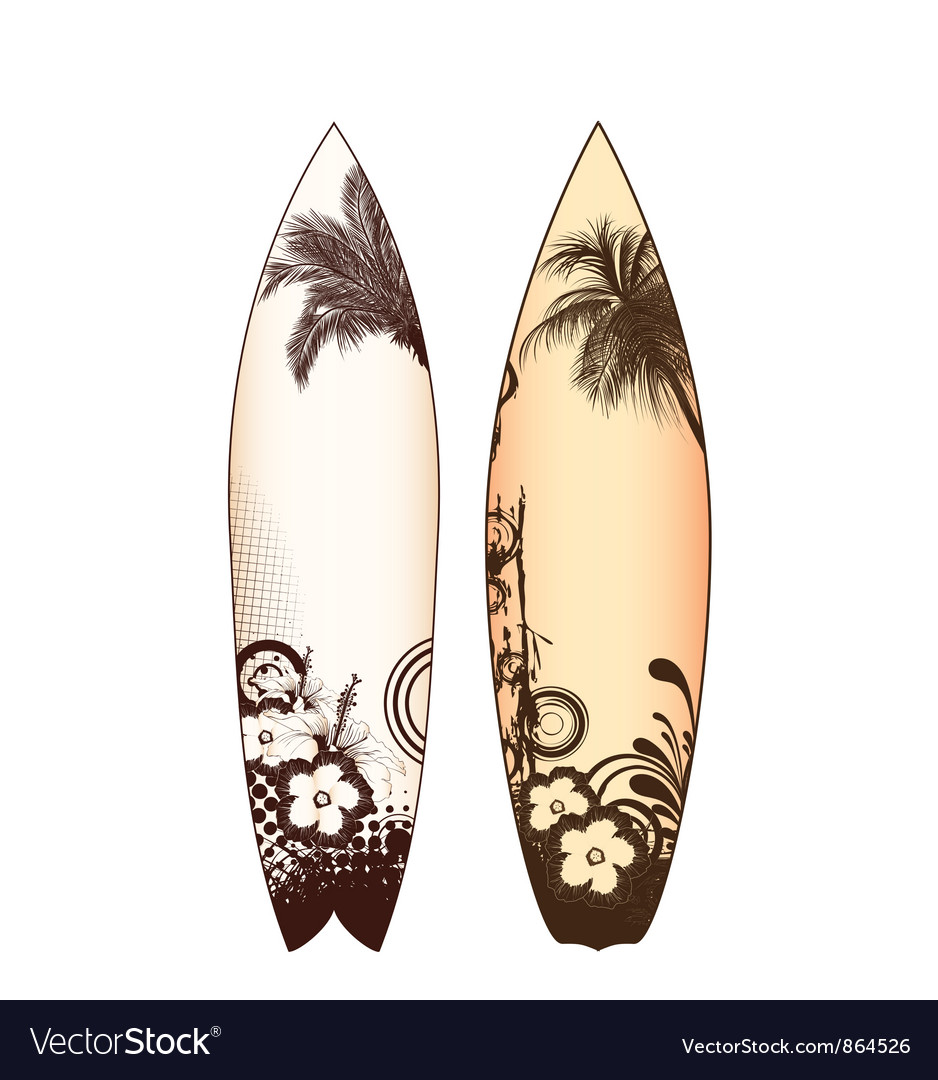 Surfboards set vector