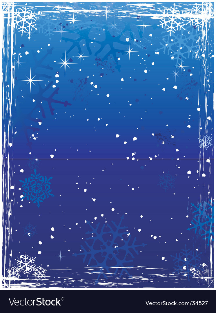 Vertical blue grunge winter background vector