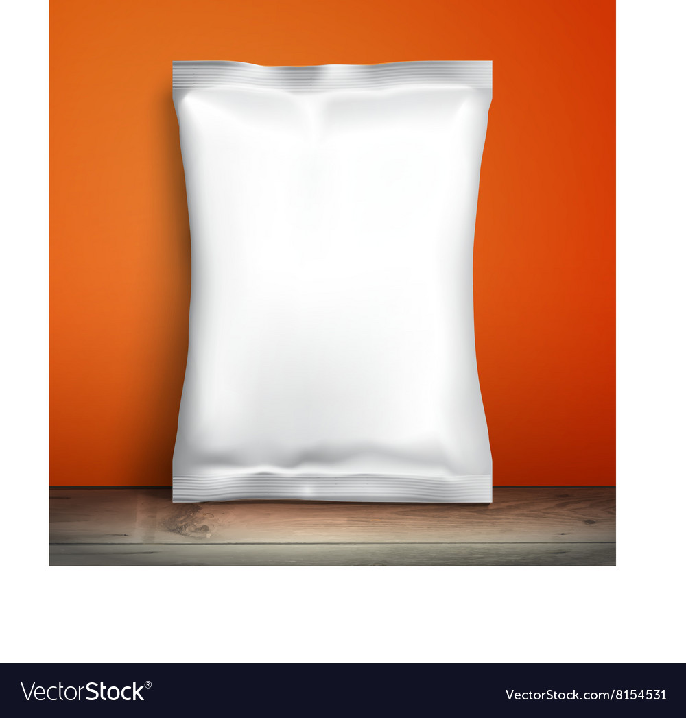 Empty packaging design chips candy cookies vector