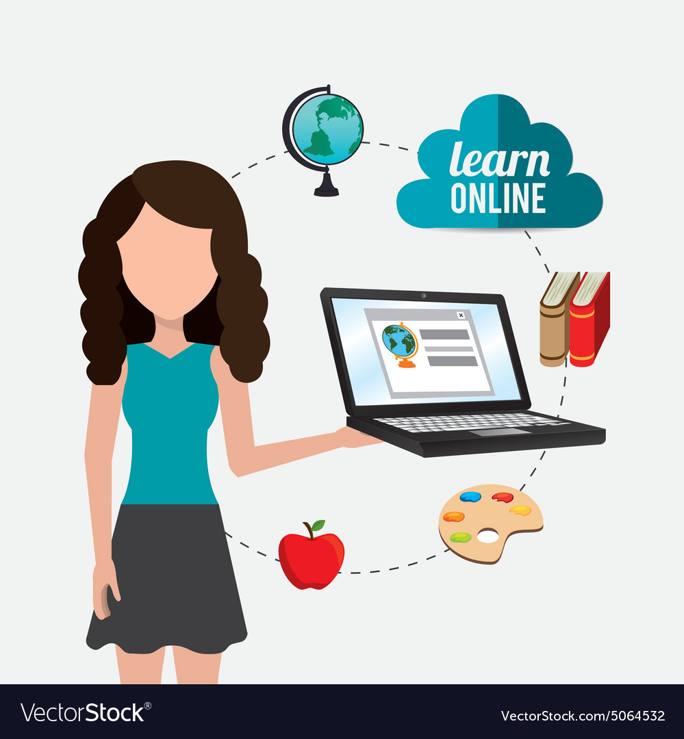 Elearning digital design vector