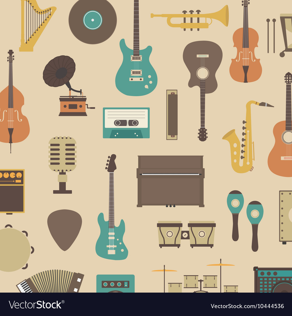 387retro music instrumentvs vector