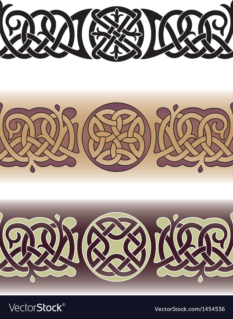 Celtic tattoo pattern vector