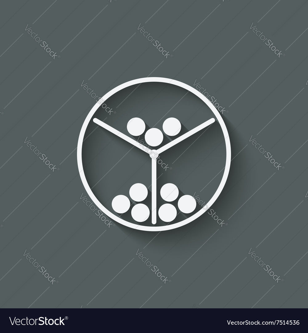 Lottery machine symbol vector
