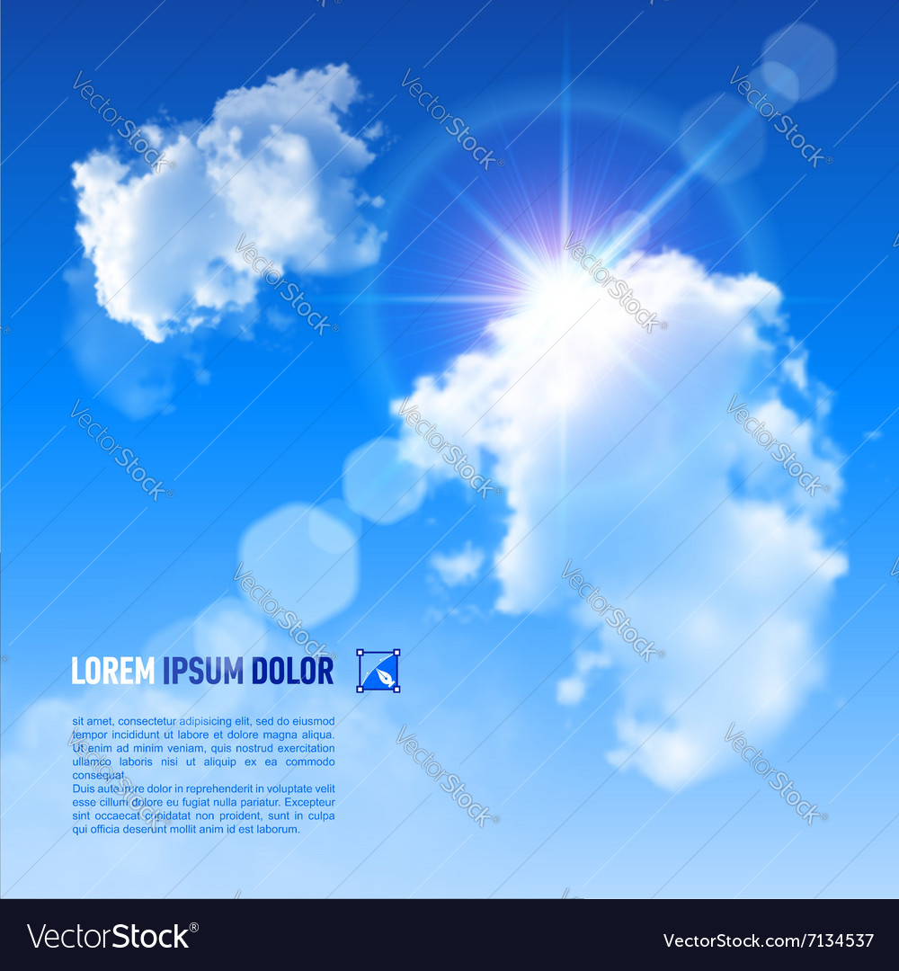 Clouds sun v 002 01 vector