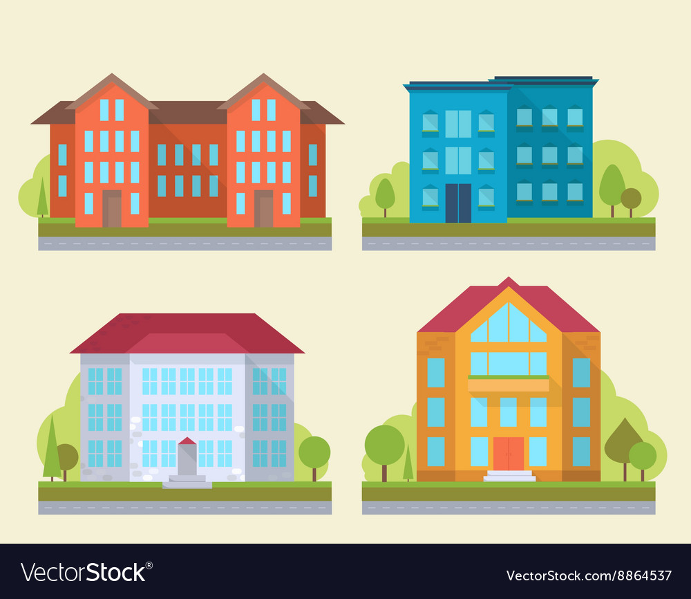 Office or adiministrative buildings vector