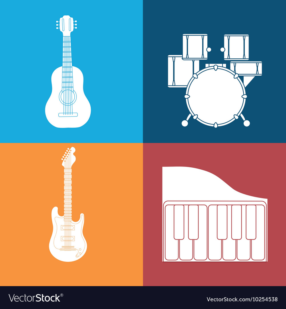 Music sound instrument vector