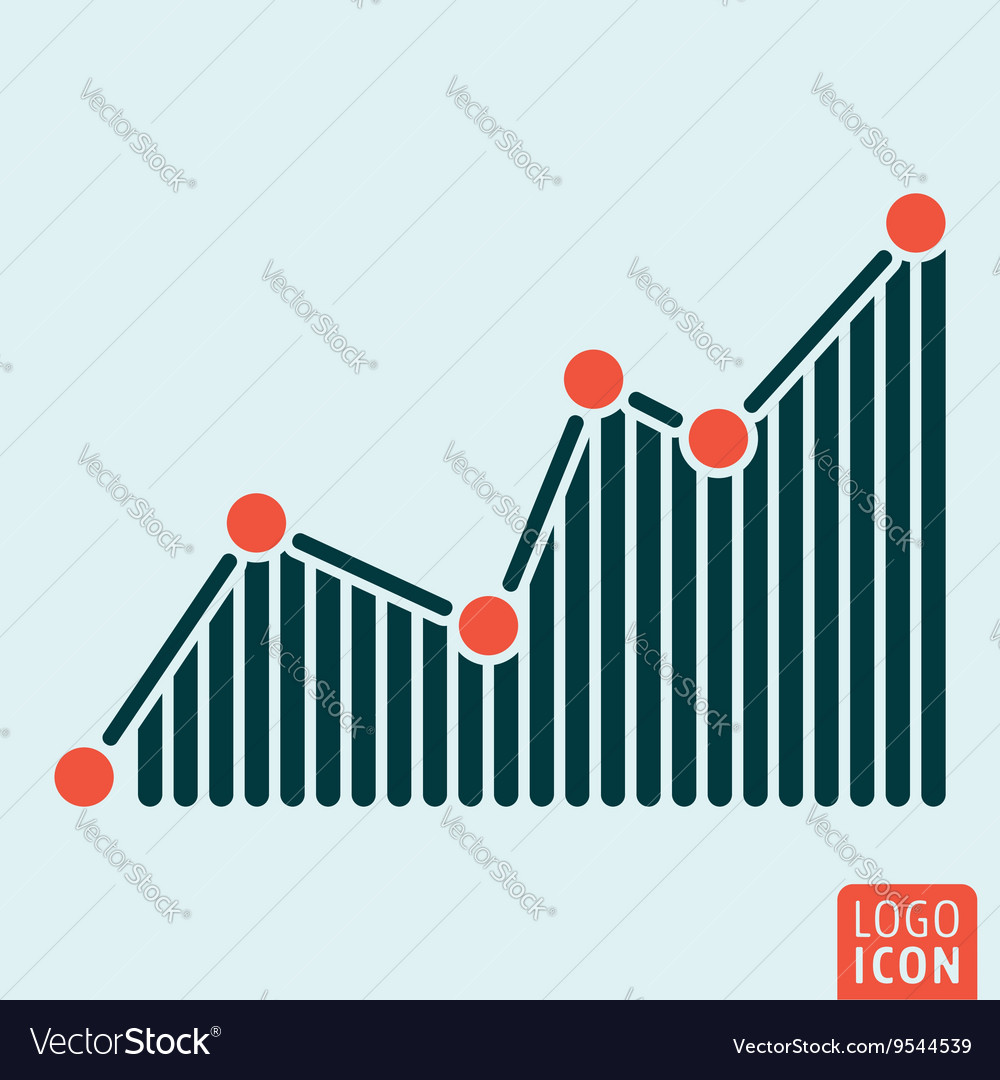 Graph icon isolated vector
