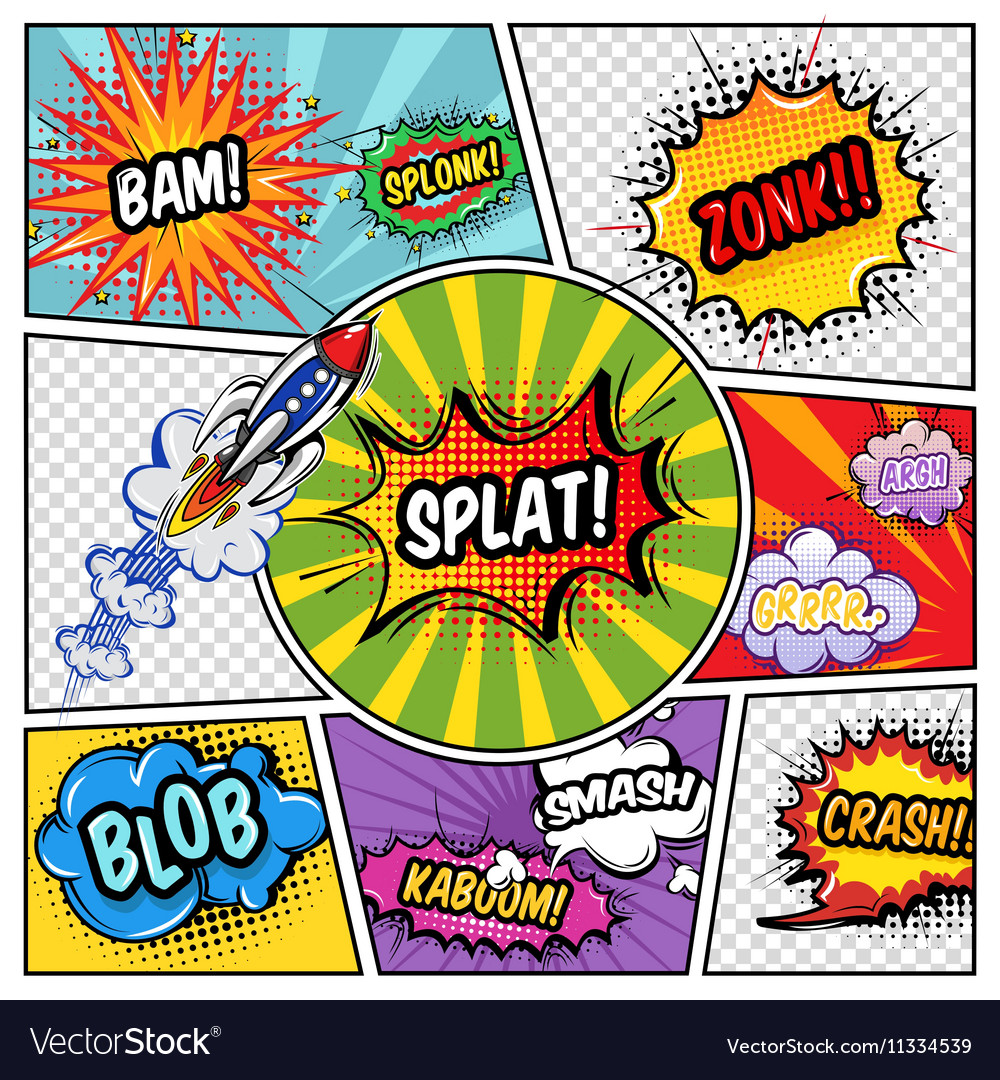 Sound elements comic book vector