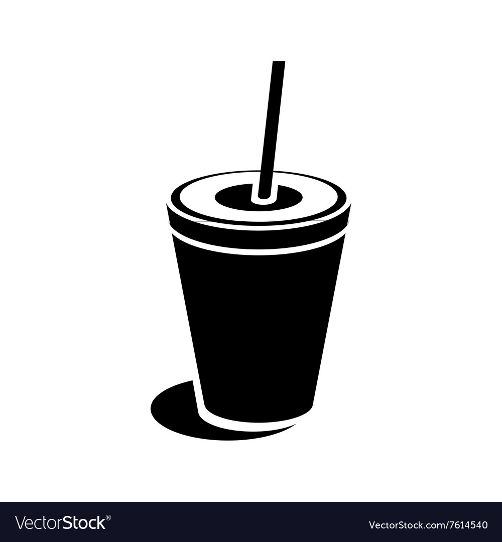 Paper cup icon simple style vector