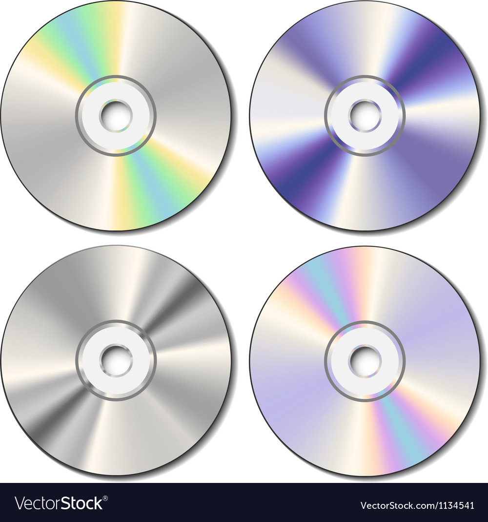 Realistic cd set vector