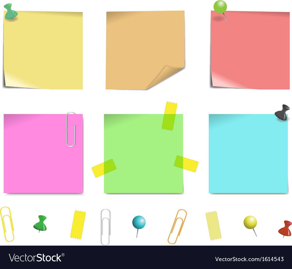 Sticky note paper vector
