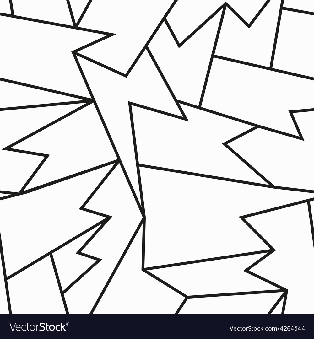 Monochrome cracked seamless pattern vector