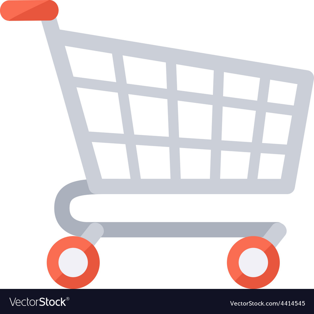 Grocery shopping cart vector