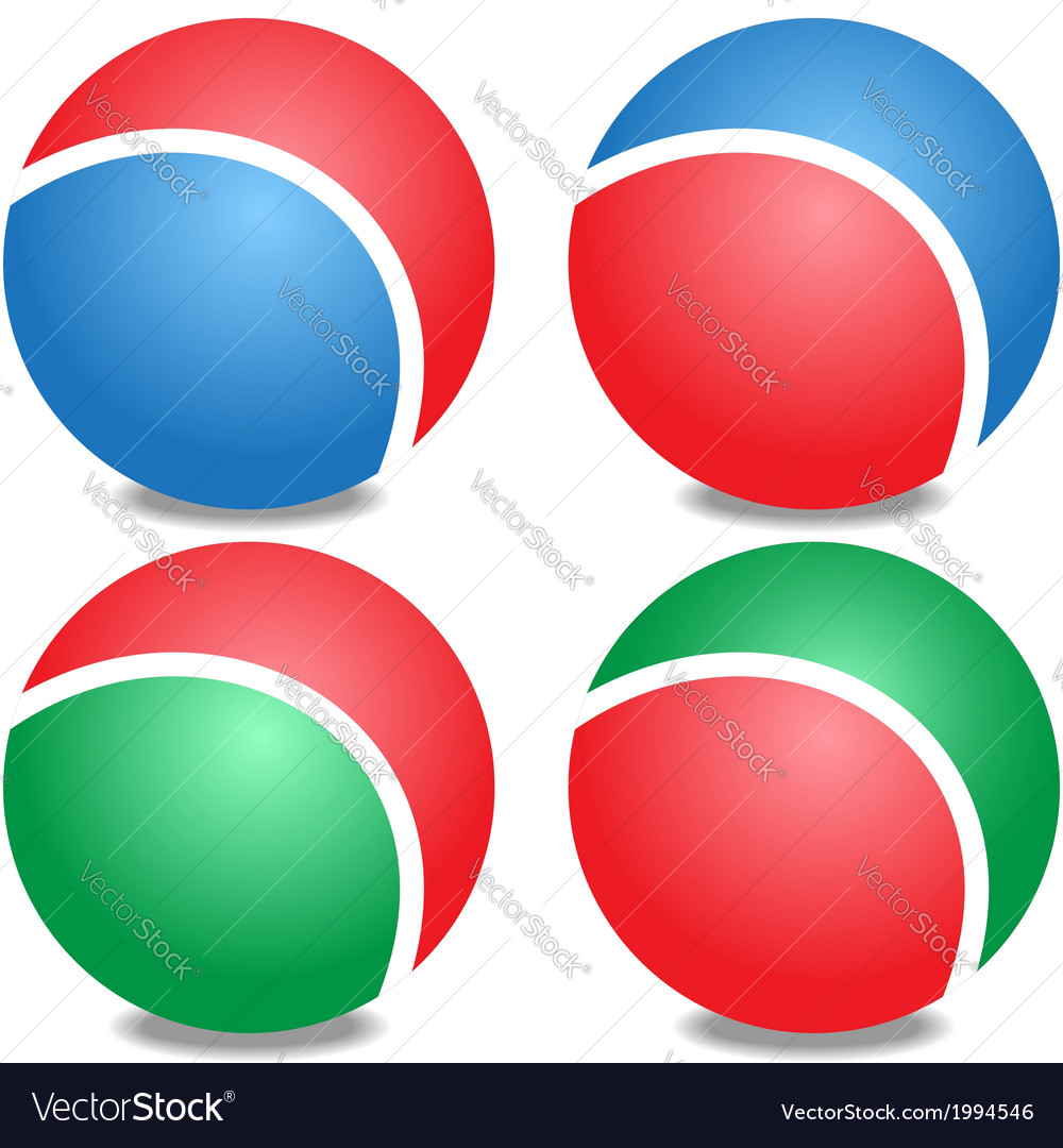 Colored balls vector