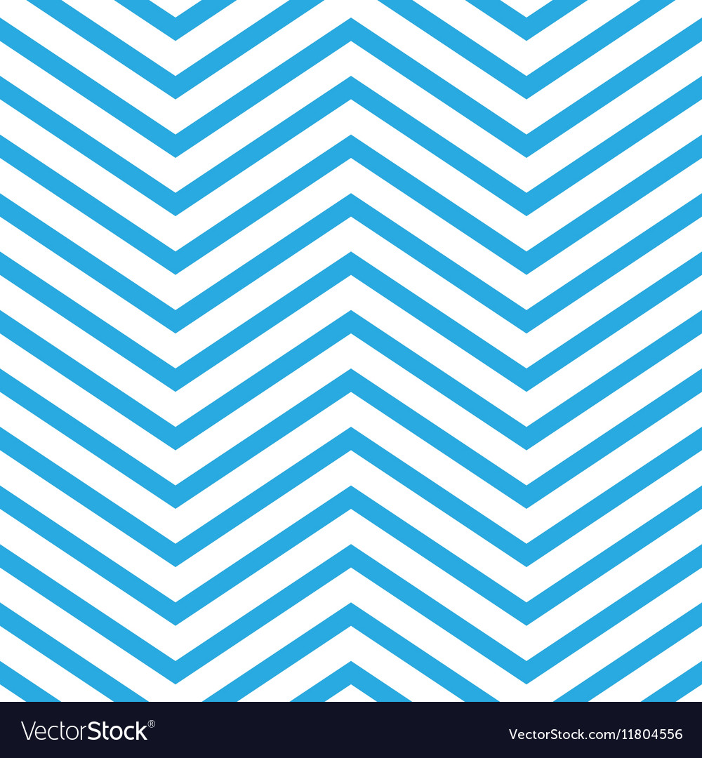 Seamless chevron pattern in blue and white vector
