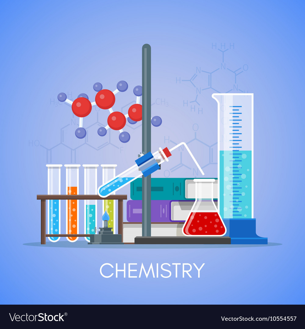 Chemistry science education concept poster vector