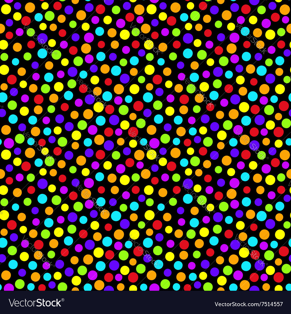 Rainbow colors polka dot seamless pattern vector