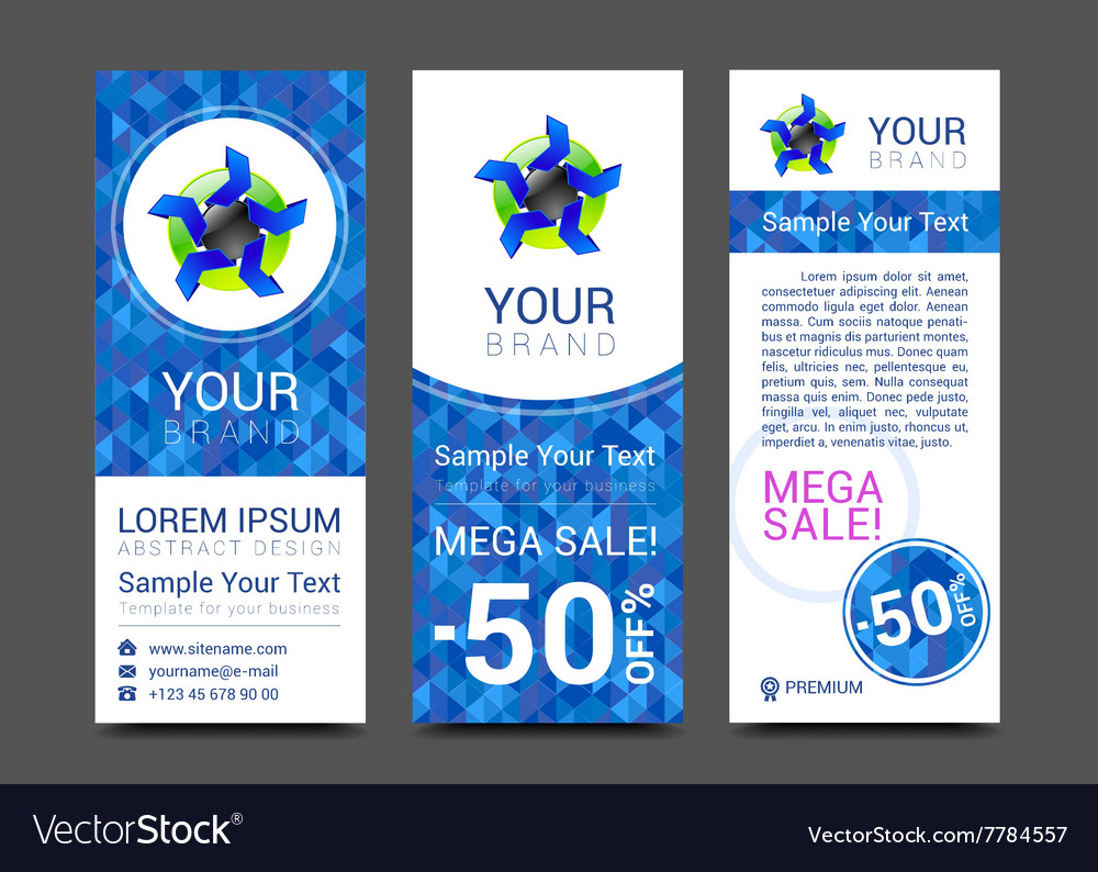 Set of vertical banners for your business ad to vector