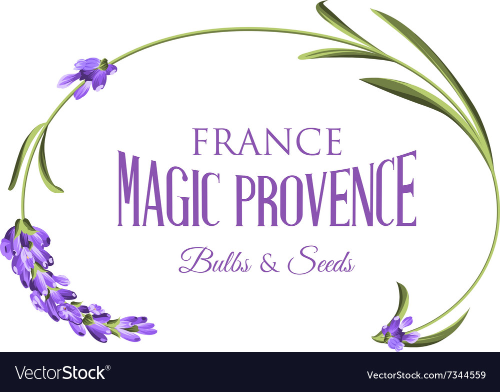 Label with lavender vector