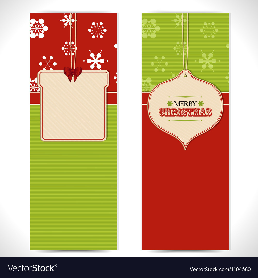 Christmas banner background vector