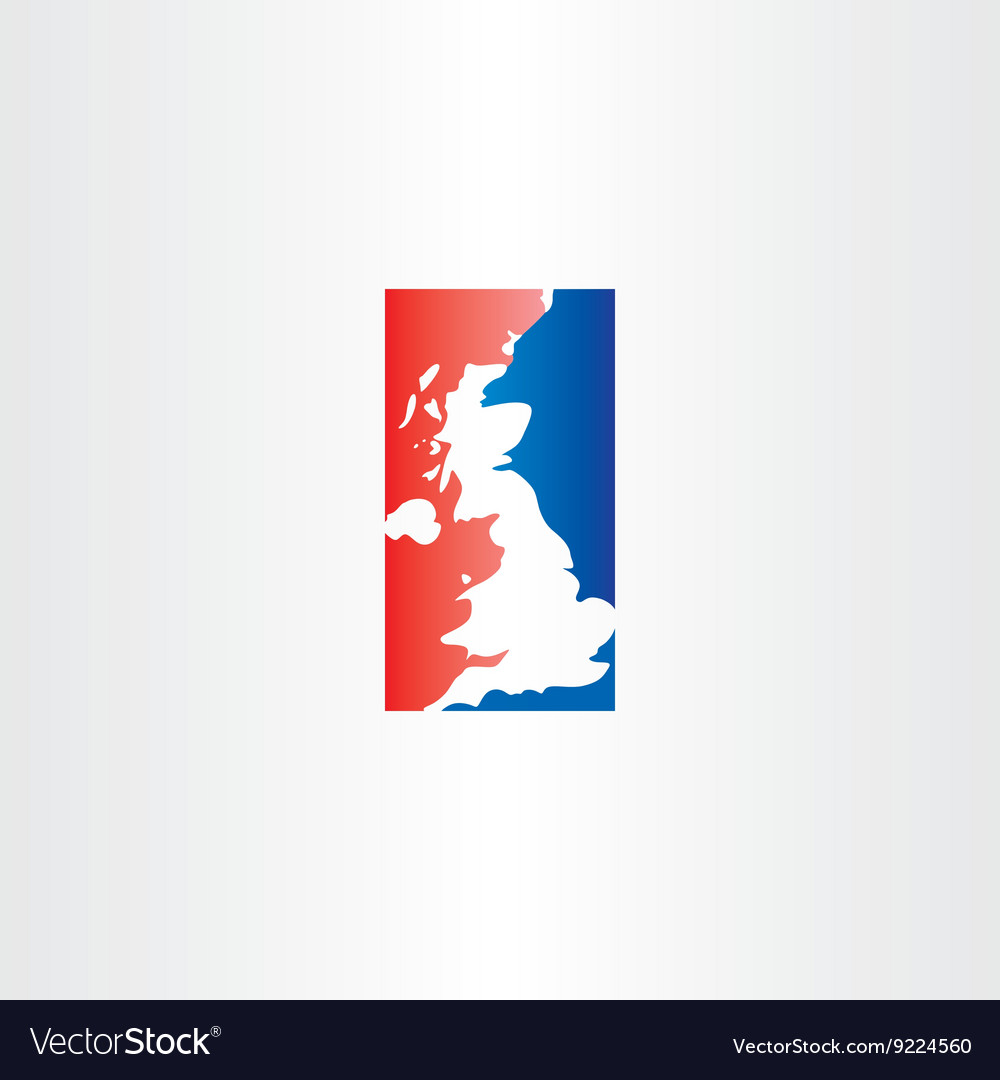 United kingdom logo icon map vector