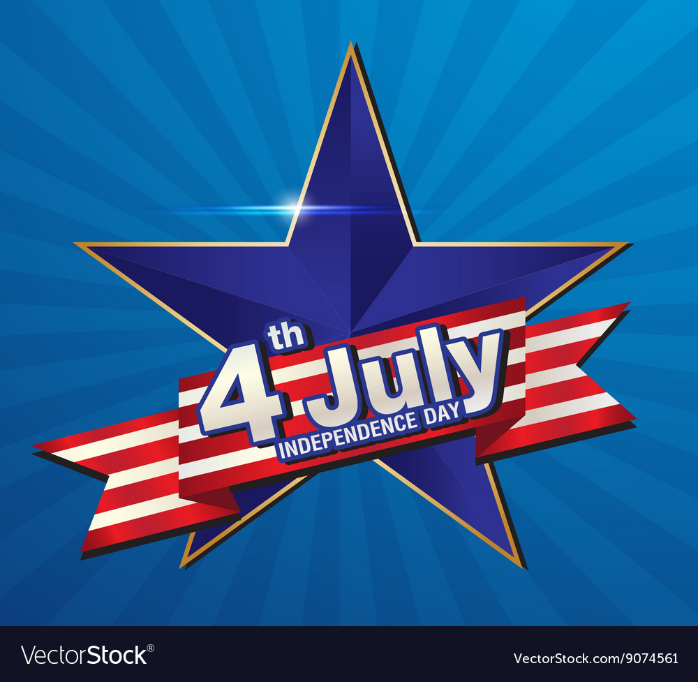 4 july independence day vector